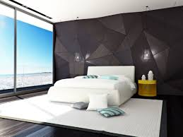 20 contemporary bedroom designs dramatic wallpaper in black texture for a luxurious modern futuristic bedroom theme