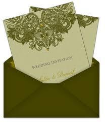 henna wedding invitations green henna pattern email wedding invitation card