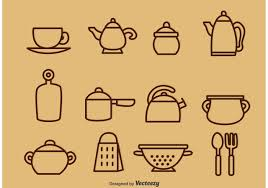 outlined vintage kitchen utensil vector icons download free outlined vintage kitchen utensil vector icons download free vector art stock graphics images