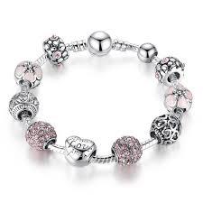 bracelet pandora silver images Pandora charm silver love charm bracelet for women reflex bargain jpg