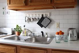 faux kitchen backsplash apartment solutions how to install a backsplash curbly