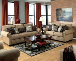 couch and loveseat set cocoa microfiber sofa bed wooden rustic