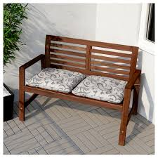 Curved Outdoor Sofa by äpplarö Bench With Backrest Outdoor Brown Stained Ikea