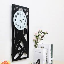 Wooden Wall Clock Aliexpress Com Buy Big Size Wooden Wall Clock Living Room Black