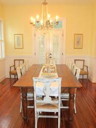 French Country Dining Room With Antique Chairs Dining Room - French country dining room chairs