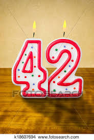 number birthday candles drawings of burning birthday candles number 42 k18607694 search