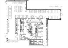 layout denah cafe bars restaurants dwg models free download