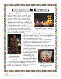 christmas in germany worksheet education com