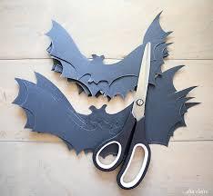 diy halloween flying bat mantel free bat template ella claire