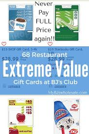 gift cards for less 68 restaurant gift cards you can buy for less then value at