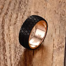 mens rings bands images Mens rings black forged carbon fiber tire design wedding bands jpg