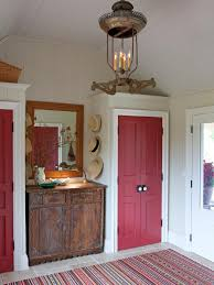 red interior design painting wood paneling hgtv