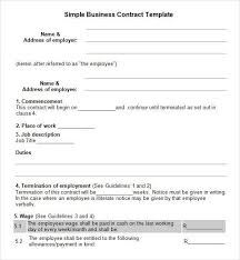 example of business contract 12 business contract templates free