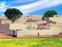 a typical a simple mud house villages and