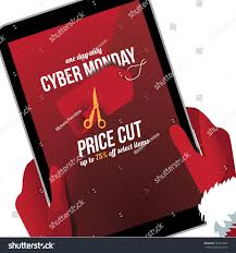 cyber monday price cut background marketing stock illustration