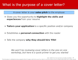Purpose Cover Letter City Year Resume Workshop Ppt Download