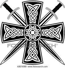 clip of celtic cross k8875089 search clipart illustration