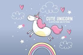 unicorn elements 2 illustrations creative market