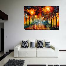 online get cheap painting umbrella girl in the rain home unframed girl of umbrellas in the rain 1 piece wall painting art picture paint on canvas home decor paintings for living room