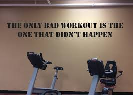workout motivation accessory gym wall decal home gym design