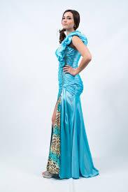 custom wedding dress ruffle blue dress didomenico design