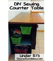 Diy Counter Height Table Tutoria Diy Counter Height Cutting Table For Less Than 75 U2013 Sewing