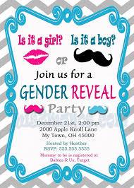 gender reveal baby shower gender reveal invitation baby shower invites by mis2manos on zibbet