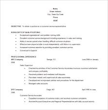 Customer Care Executive Resume Sample by Customer Service Resume Template U2013 10 Free Word Excel Pdf