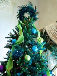 unique tree toppers with blue feather