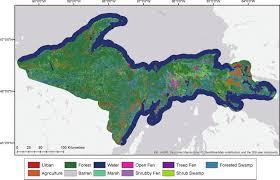 Upper Michigan Map Mapping Peatlands In Michigan U0027s Up Ornl Daac News