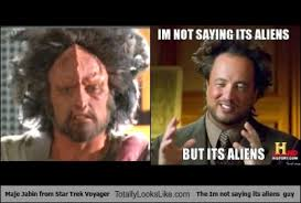 Giorgio Tsoukalos Aliens Meme - maje jabin from star trek voyager totally looks like conspiracy