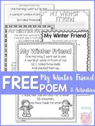 snowman poem and sequencing activities snowman poem sequencing