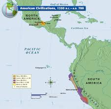 Old Map Of Mexico by American Civilizations 1200 B C A D 700 History Pinterest