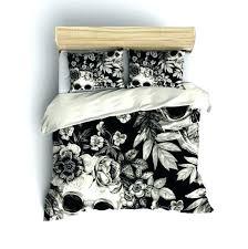 Black Floral Bedding Red Cream And Black Duvet Covers Black Cream White Colour Stylish