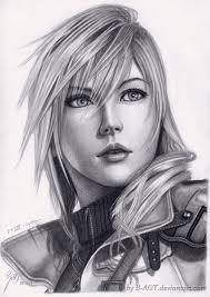 lightning 2 final fantasy xiii by b agt pencil sketches