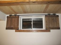 Shutter Interior Doors Barn Door Shutters For The Basement Windows Added Security Too