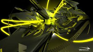 3d Wall Paper by Black And Yellow Wallpapers Group 75