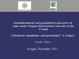 geomathematical and geostatistical characters of some clastic