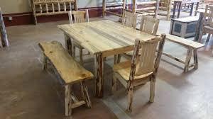 Log Dining Room Table Montana Pioneer Rustic Log Dining Table U2013 Great Northern Logworks