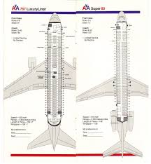 airlines past u0026 present american airlines seating guide map 1983