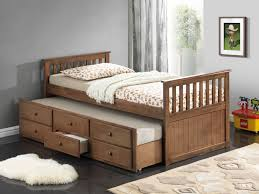 Full Size Trundle Bed With Storage Bedroom Captain Bed With Trundle Captains Bed Twin With Drawers