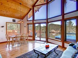 Open Floor Plans With Lots Of Windows Totem Vista Mountain House Great Family Home Tub Huge Deck