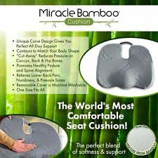 Worlds Most Comfortable Car Miracle Orthopedic Bamboo Cushion Comfort Seat Pillow Car As Seen