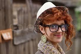 hipster girl smiling hipster girl stock photo colourbox