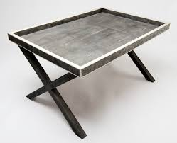 Tray Coffee Table by Bespoke Global Product Detail X Frame Butlers Tray In Shagreen