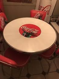 coca cola table and chairs vintage original coca cola table and four chairs ebay
