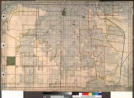 Los Angeles Downtown Map by File Wpa Land Use Survey Map For The City Of Los Angeles Book 8