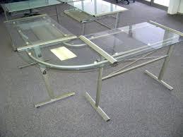 Black Glass L Shaped Desk Office Design Glass Office Desk Glass Office Desks For Home