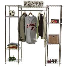 wire shelving closet system w clothes rod 18