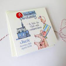 personalised christening invitation cards by palace